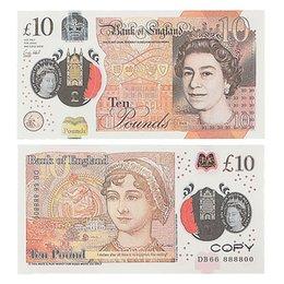PROP Pengar Copy Game UK Pounds GBP Bank 10 20 50 Noter Filmer Spela Fake Casino Photo Booth