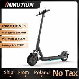 EU STOCK ORIGINAL INMOTION SCV L9 S1 Smart Scooter électrique Pliable Kickcooter 1000w 95km Plage Double Frein Skateboard avec application TVA incluse en Solde