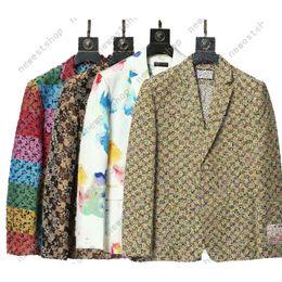 Western Clothing Blazers Mix Stijl 2021 Designer Herfst Luxe Mens Uitloper Jas Slim Fit Casual Animal Grid Geometry Patchwork Print Mannelijke Mode Jurk Pak