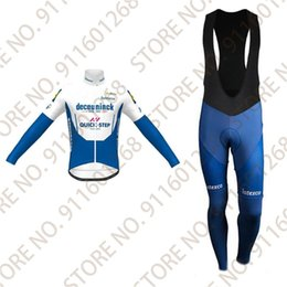Wholesale Racing Sets Men Quick Step Cycling Jersey Set Spring Autum Clothing Long Sleeve Road Bike Suit Maillot Ropa Ciclismo Cyclisme