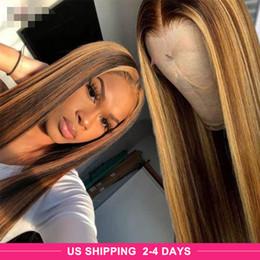 Ishow Destaque P4 / 27 Wig Straight 13x4 Onda Corporal Omber Color T Parte Pré-arrancada 360 Human Hair Lace Front Wigs em Promoção