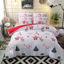 king queen gifts NZ - Home textiles cartoon Christmas Bedding Set Comforter cute Bed linens set luxury duvet cover set gift for kids queen king sizes C0223