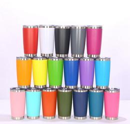 New Fashion 20oz Bere tazza di bicchiere con coperchio in acciaio inox Vino in acciaio inox Vuoto Tazza isolata Viaggio 18Color in Offerta