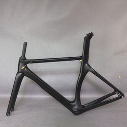 Wholesale Tantan factory new Aero design all black color carbon road bike frame carbon fibre racing bicycle frame TT-X2 700c accept painting