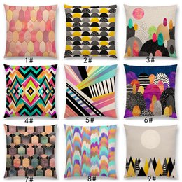 colorful geometric pillows 2021 - New Colorful Rocks Candy Gems Stained Glass Abstract Blocks Geometric Art Prints Cushion Cover Car Sofa Throw Pillow Case