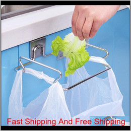 stainless steel gloves 2021 - Hanging Garbage Bags Storage Organizer Rack Stainless Steel Trash Bag Holder Towel Gloves Hanger For Kitchen C qylpmJ toys2010