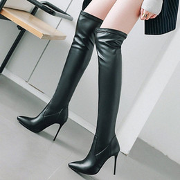 45 46 47 48 Women Waist Belt Over The Knee Thigh Stretchy Boots Outdoor Club L