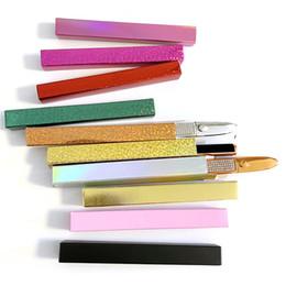 Wholesale New glittered soft rectangular box for self-adhesive waterproof eyeliner pen eyebrow brush case eyeliner pen box free shipping