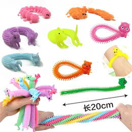 Creative Fidget sensory brinquedo macarrão corda tensão sensação de ventilação caterpillar unicorn descompressivo puxar cordas ansiedade ansiedade toys H388PUX em Promoção