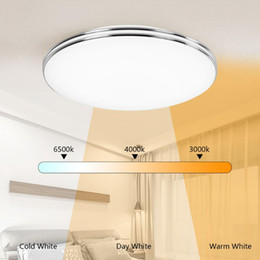 48w led panel lights UK - Ultra Thin Dimmable LED Ceiling Lamp LED Modern Panel Light 12W 18W 24W 48W 220V Bedroom Kitchen Flush Mounted Panel Light