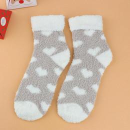 Mesdames Femmes Moelleux Doux Chaussettes Chaud Hiver Salon Confortable Lit Chaussettes Cadeau de Noël