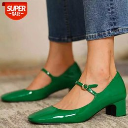 Fashion Women's Shoes Mary Jane Style Ladies Shoes Low Heel Shallow Mouth Round Toe Solid Color Women's Party #vc2S