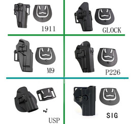 Wholesale 2021 Hot wholesale tactical nylon holster for G17 M1911 M9 P226 sig usp holster waist quick pull sleeve holster