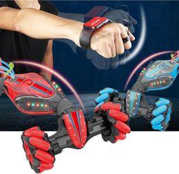 Wholesale Gesture sensor twist car Watch Remote Control Stunt Rc Car Gesture Sensing Twisting Vehicle Drift Car Children Driving Toy Gifts