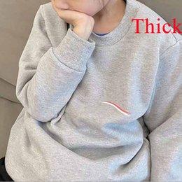Enfants Sweatshirts Garçons Filles Mince de style épais Lettre de mode imprimé Pull à manches longues Tops Children Sweat-shirt pour enfants en Solde