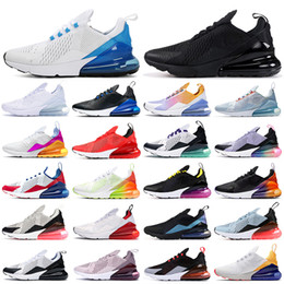 Wholesale blue true for sale - Group buy 270 running shoes triple black white red women men Chaussures Bred Be True BARELY ROSE s mens trainers Outdoor Sport Sneakers