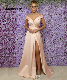 Discount women s dresses size 14 Plus Size Woman Lady Sleeveless Off-Shoulder Formal Bridesmaid Dresses Mermaid V-Neck Thigh-High Slits Girl Gown Custom Satin