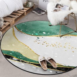 Wholesale marble for floors for sale - Group buy Nordic Marble Round Carpet Rug for Living Room Kids Playing Tent Area Rugs Bedroom Coffee Table Tapete Non Slip Tatami Floor Mat