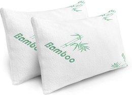 """Опт Mitofox 2 пакет бамбуковая гипоаллергенная подушка съемная на молнии крышка, прохладный комфорт фирменный шеи опора измельченной памятью пена наполнить король / королева размером (18 """"х 28"""")"""