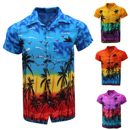 Wholesale hawaii shirt for sale - Group buy Mens Casual Shirts Fashion Men s Casual Button Hawaii Print Beach Short Sleeve Quick Dry shirt Top Blouse