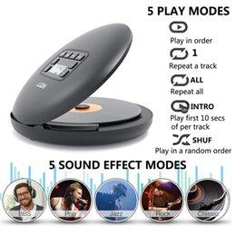 Опт Hott CD204 Аккумуляторный CD-плеер Bluetooth Portable CD-плеер с аккумуляторной батареей Светодиодный дисплей Personal CD Walkman, чтобы насладиться музыкой