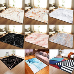 Wholesale marble for floors resale online - Black White Marble Printed Bedroom Kitchen Large Carpet for Living Room Tatami Sofa Floor Mat Anti Slip Rug tapis salon dywan R2