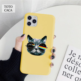 ingrosso iphone 6s argomento freddo-Custodia per telefono morbido gatto cool gatto per iPhone x XR XS max S PLUS SE Soft Back Cover per iPhone