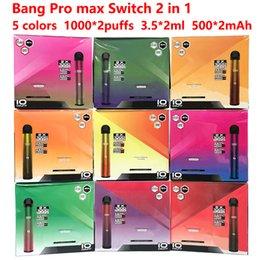 Bang Pro Max Interruptor 2 em 1 Bang XXL XXTRA Display Vape Vape Vape Cartucho Vape Vape E Cigarros Vaporizador Portátil Até 24 Cores em Promoção