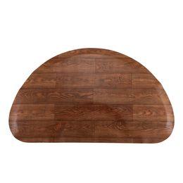 Опт WACO против усталости стоящий коврик для салона красоты, совокупные коврики комфорта Comfort водонепроницаемый, 3FT X 4FT X1 / 2in полукруг дерева