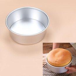 Venta al por mayor de Pan tortas redondas de 8 pulgadas con fondo removible de aleación de aluminio molde de pastel de gasa para hornear herramientas de molde de cocina de cocina de metal Moldes para hornear HWF8083
