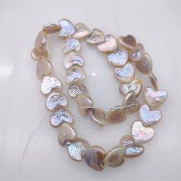 100% natural de água doce pérola coração-em forma de pérola barroca para mulheres brincos diy racetel colar moda jewlery natal presente 238 Q2 em Promoção