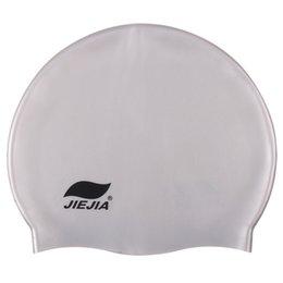 2021 Gel de silice Casquette de natation Couleur pure imperméable, respirant AA777 AA777 confortable gel de silice enduit de gel recouverts d'usine fourniture d'usine hommes et femmes adultes en Solde