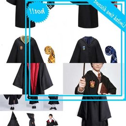 Wholesale harry potter robes resale online - 9XY3Hot children clothes cosplay robe Harry Potter hooded Robes with ties Child Adult Unisex costume kids clothing M