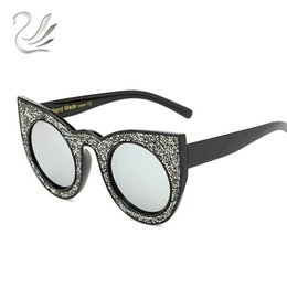 cat eye frames rhinestones 2021 - Cool Glasses Frame For Bing Fashion Sunglasses Rhinestones Female 2021 Eye Style Women Big Bing Sun Luxury Designed Cat Eddrd Vtrsa