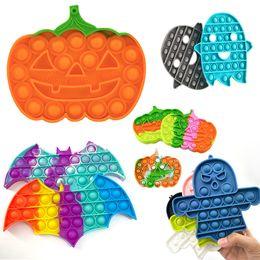 DhlPopopular Halloweenプッシュバブルフィジットおもちゃ成体ストレスリリーフおもちゃのティスルスポイントの柔らかいスケシッシュ反応の贈り物卸売