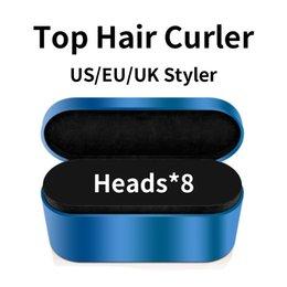 Wysokiej jakości lokówki włosów 8-głowice Wielofunkcyjne urządzenie do stylizacji włosów Automatyczne Curling Suszarka do normalnych włosów EU / UK / US z pudełkiem