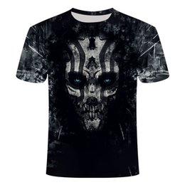 horror shirts Canada - Summer 2020 new leisure classic 3D printing horror skull Street strap fashion T-shirt o-neck s-6xl L0223