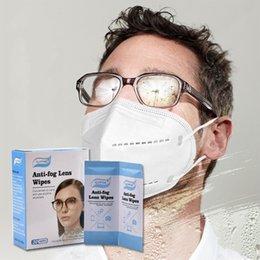 Vente en gros Lugettes anti-brouillard lentilles Lingettes anti-brouillard Spot de serviette en papier de Wet All Anglais Emballage Nettoyage Serviettes humides