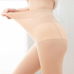 Wholesale thin elastic underwear for sale - Group buy Soft High Women Waist Leggings Thin Large Size Elastic Foot Massage Skin Steel Socks Female Intimate Anti hook Safety Underwear C0304