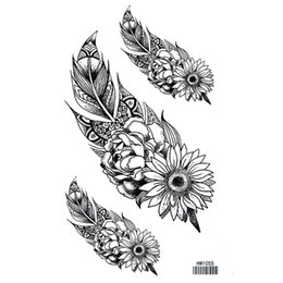 ingrosso lune tatuaggi-Fashion Brand New Moon Flower Flower Five Star Snake Impermeabile Braccio Temporaneo Leg Tattoo Sticker Body Art Tattoo Sticker