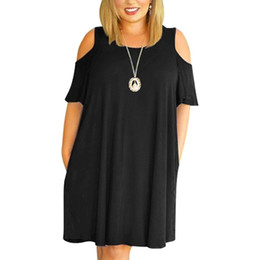 Wholesale summer dresses for fat women for sale - Group buy Big size XL Dress for Fat MM Woman Summer dress Loose plus size dresses off the shoulder women clothing XL dress vestidos