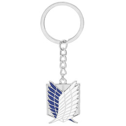Wholesale attack titan scouting legion cosplay resale online - Anime Attacks On Titan Scouting Legions Emblem Keychain Wing of Liberty Pendant Keyring Cosplay Unisex Fashion Jewelry