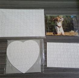 Sublimation Puzzle A5 A4 SUBLIMATION DIY Puzzles blancs Puzzle blanc Jigsaw 120pcs / 80pcs Toile Thermal Transfert Transfert Impression Handmade H11905 en Solde