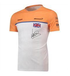 Großhandel F1 Formel 1 Rennanzug Kurzarm T-Shirt Teamanzug 2021 F1 Hemd Sport Freizeit Rundhalsausschnitt Schnelltrocknendes T-Shirt Top