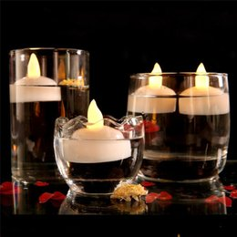 Discount lights float water Waterproof LED battery-operated floating flameless candle light that will light up when exposed to water can be used for party decoration