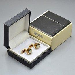 L-M05 med Box Luxury Designer Manschettknappar Män Franska Skjorta Manschettknappar Avancerad bröllopsgåva