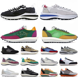 ingrosso blazers rossi-ldv waffle vaporwaffle daybreak blazer shoes New LDV Waffle Vaporwaffle Daybreak Running Sport Shoes Uomo Donna Fashion Sneakers Chunky Dunky Green Gusto Trainers