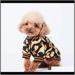 Discount flora costume Classic Flora Printed Pet Coats Ins Fashion Thicken Pattern Pets Jackets Festival Personality Trendy Teddy Bulldog Apparel Smhnz Ymh9L