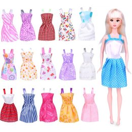 barbie princess dresses Canada - Cute 29cm& 11 Inches Barbie Doll Fashion Short Skirt, Princess Dress, 16 Style Clothes, for Party Christmas Kid Birthday Girl Gift 104, USEU