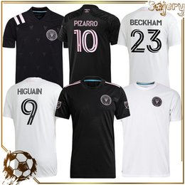 ingrosso camicie di sudore nero-2021 Men Inter Miami CF Soccer Jersey Thai Qualità Bianco Away Black Uniforms Home Beckham Julián Carranza Ben Sweat Pellegrini MLS Camicia da calcio